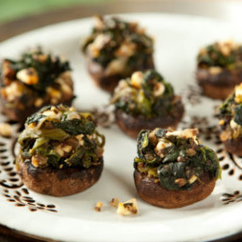 Spinach-Stuffed Mushrooms