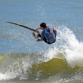 Surfing Flagler Beach by Bill Telkamp - Sports & Fitness Surfing ( water, surfing, summer, ocean, beach )