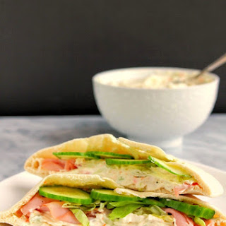 Ham Pita Pockets with Homemade Veggie Cream Cheese