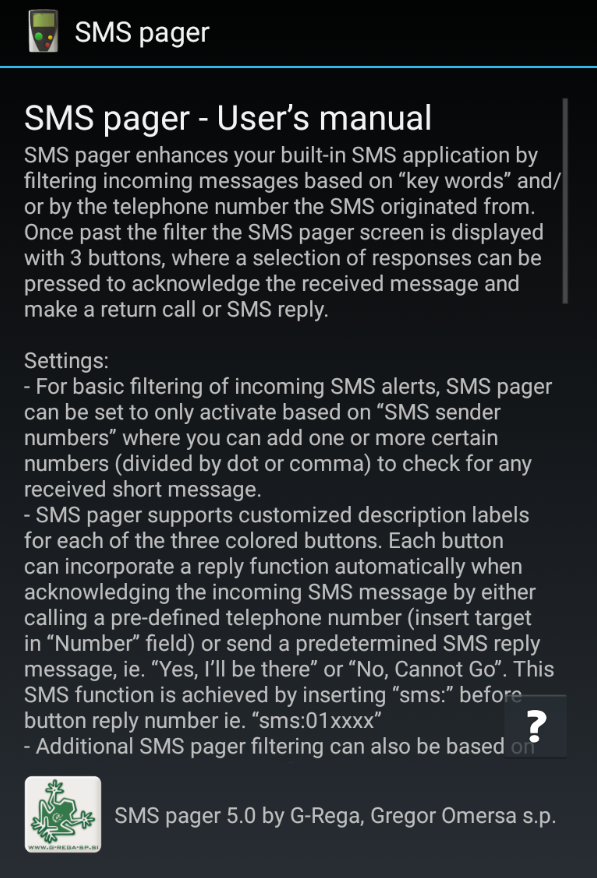 SMS Pager PRO Screenshot 4