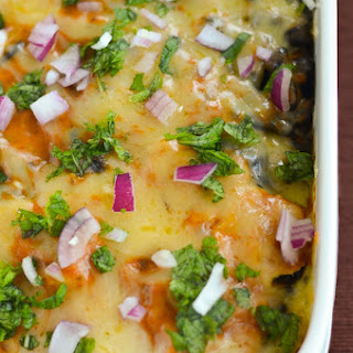 Chicken Spinach Enchilada Casserole