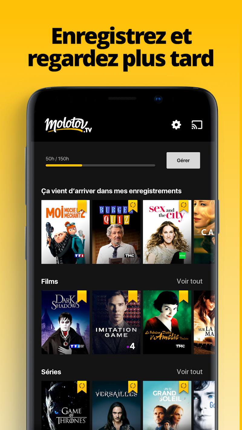 Molotov - TV en direct et en replay Screenshot 2