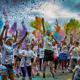 The Color Run Fun !!! by Dragan Rakocevic - Sports & Fitness Running