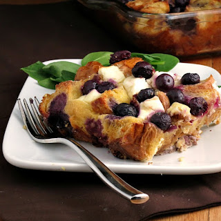 Overnight Blueberry Baked French Toast