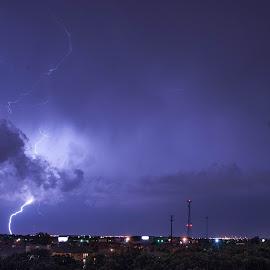 Lightning Storm by TJ Campbell - Landscapes Weather