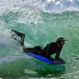 Surfer at the Wedge by Jose Matutina - Sports & Fitness Surfing ( orange county, surfer, california, newport beach, the wedge )