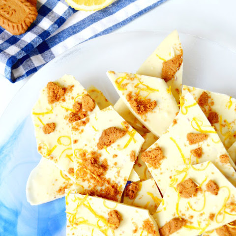 White Chocolate Bark with Lemon and Speculoos