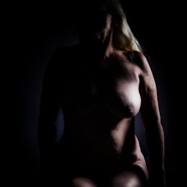 Shades of Light by Richard Hutchinson - Nudes & Boudoir Artistic Nude ( fine nudes, ahava, light and dark, mature, grandmother )