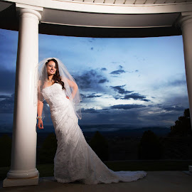 Night Sky Bride by Kylie Nielson Howes - Wedding Bride ( bridal, bridal portraits, wedding, bride, night sky, photography )