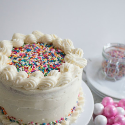 Vanilla Bean Homemade Funfetti Cake for Melrose Family