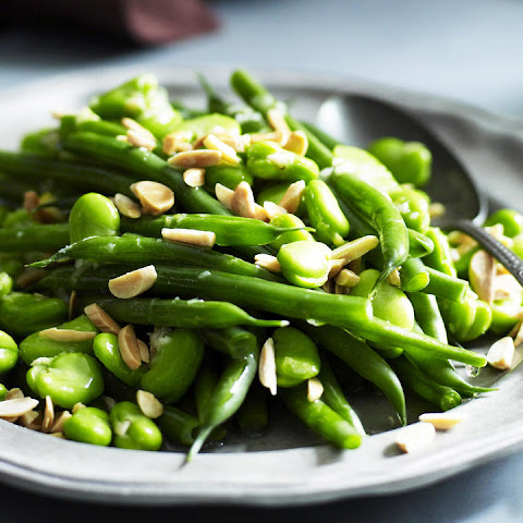 Green Bean and Fava Salad with Lemon Zest and Almonds