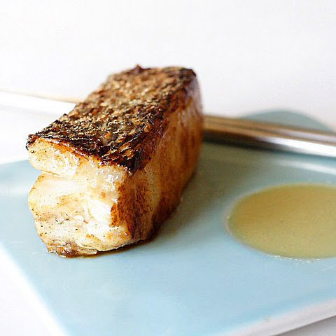 Miso-Marinated Sea Bass