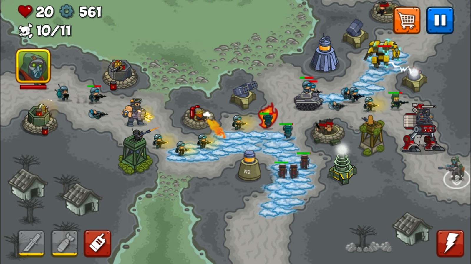 Combat Tower Defense Screenshot 1