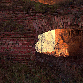 through by Miroslav Bičanić - Buildings & Architecture Decaying & Abandoned ( wiew, winter, fortress, bricks, through )