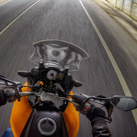 Riding  by Paulo Pereira - Transportation Motorcycles ( ride motorcycle versys )