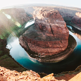 Horseshoe Six by Jonathan Stolarski - Landscapes Deserts ( colorado river, az, desert, page, arizona, horseshoe bend,  )