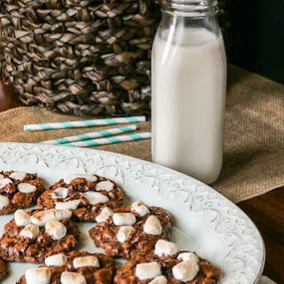 Chocolate Marshmallow Campfire Cookies