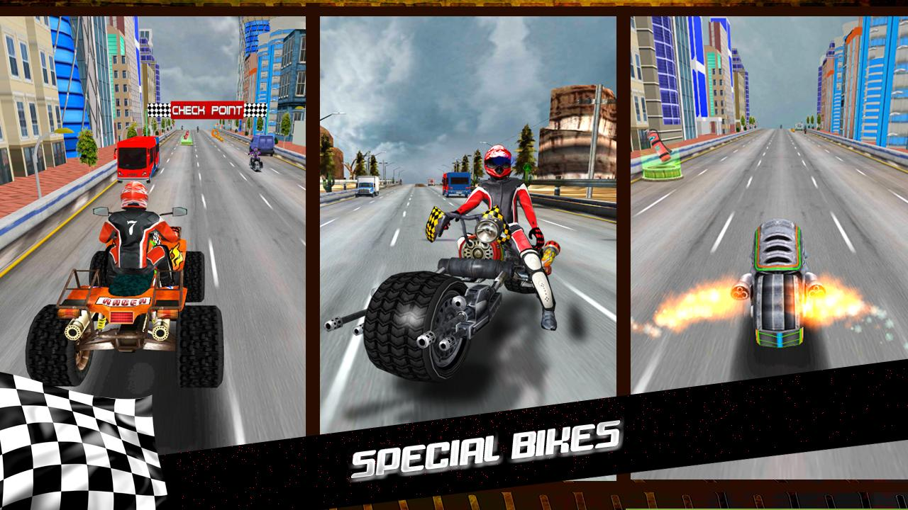 Turbo Racer - Bike Racing Screenshot 0