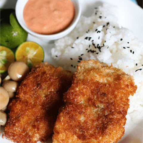 Breaded Cream Dory with Sriracha Mayo