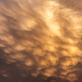 Mammatus Clouds at Sunset by Andy Taber - Abstract Patterns