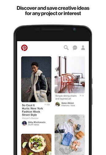 Pinterest Android App Screenshot