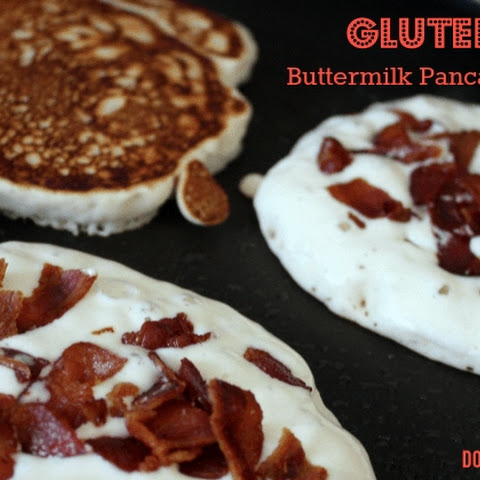 Gluten Free Buttermilk Pancakes with Bacon