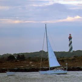 Sailing away by Jackie Eatinger - Transportation Boats (  )