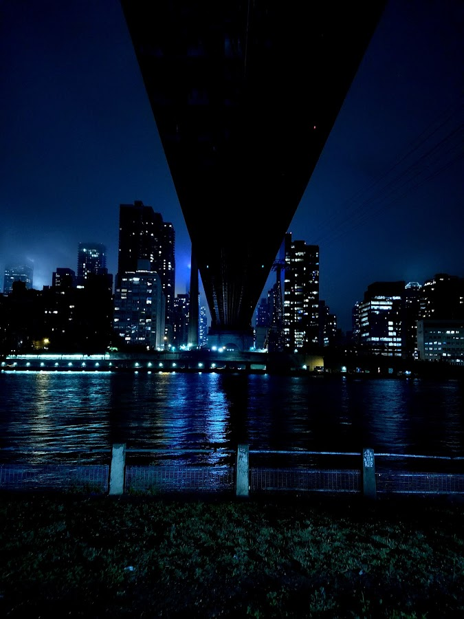 Bridge and NYC by Chris Gray - Buildings & Architecture Bridges & Suspended Structures ( water, skyline, queens, bridge, nyc,  )