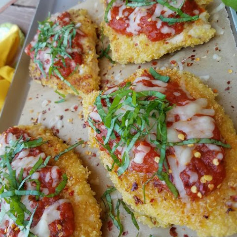 Clean Eating Quinoa Chicken Parmesan