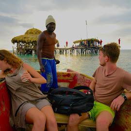 Leaving the bar by Debbie Hunt - People Street & Candids ( ocean, travel, transportation, boat, people )
