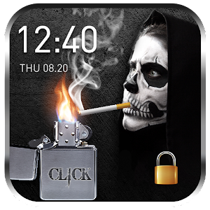 Download free 2018 Skull Lighter Lock Screen for PC on Windows and Mac