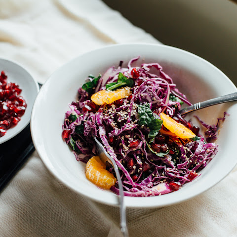 Tangled Red Cabbage Salad