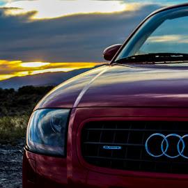 Audi Sunset  by Braidon Everts - Transportation Automobiles ( audi, sunset )