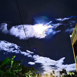 HDR moonlight in Midnight by Fanny Marcel Tendeng - Buildings & Architecture Homes ( hdr, night, moonlight )