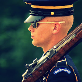Soldier by Carson Satchwell - People Professional People ( arlington, dc, soldier, tomb, guard, unknown )