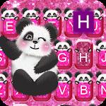 Keyboard - Glitter Panda Pink Free Emoji Theme Icon