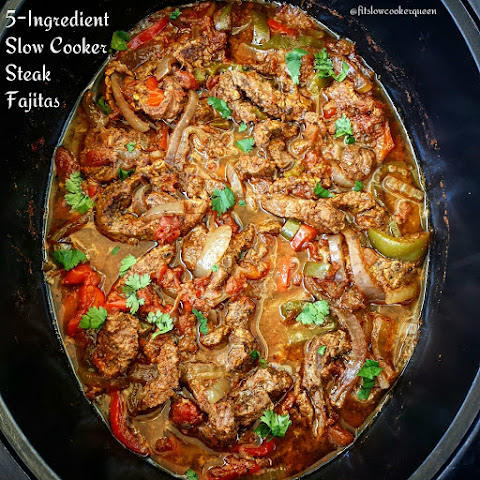 5-Ingredient Slow Cooker Steak Fajitas