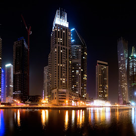 Dubai marina by Валентин Найденов - Buildings & Architecture Office Buildings & Hotels ( панорама, дубай, марина )