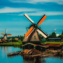 Windmill 2 by Jurica Žumberac - Buildings & Architecture Other Exteriors ( water, wind, sky, nature, holland, outdoors, architecture, windmill )