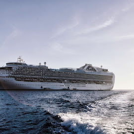 Crown Princess in Cabo by Monte Arnold - Transportation Boats ( holiday, crown princess, princess cruise, cabo, ship, ocean, travel, boat, cruise, escape )