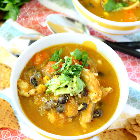 Creamy Pumpkin Chicken Tortilla Soup