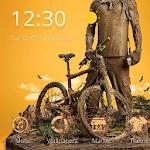 Downhill bike theme DH BMX Icon