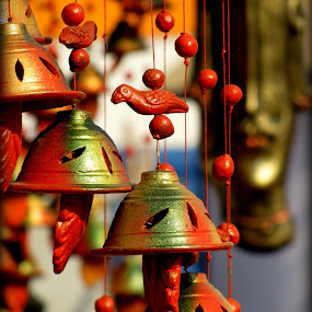 BELLS IN HANDICRAFT FESTIVAL,KOLKATA ,INDIA by Srabani Mitra - Abstract Patterns ( bells )