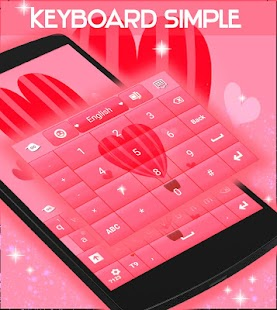 Keyboard Simple Love Theme - screenshot