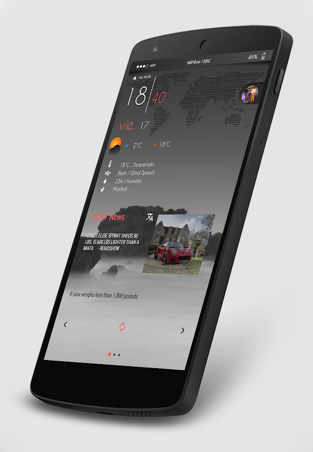 Gray Bloom XIU for Kustom/klwp Screenshot 3
