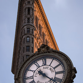 Flat Iron Clock by Anthony Cuffari - City,  Street & Park  Historic Districts