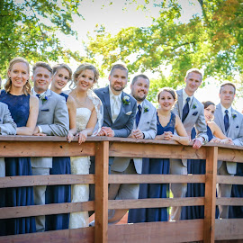 Bridal Party On A Bridge by Kathy Suttles - Wedding Groups