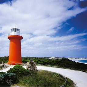 Cape bnks by Annette Flottwell - Buildings & Architecture Public & Historical ( orange, sa, lighthouse, south coast, medium format 6x9, 6x9,  )