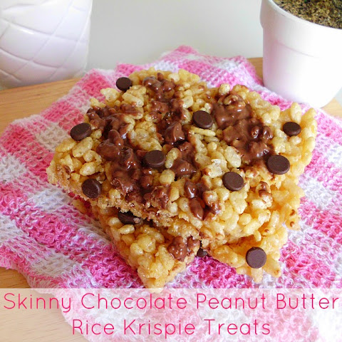 Skinny Chocolate Peanut Butter Rice Krispie Treats for Two