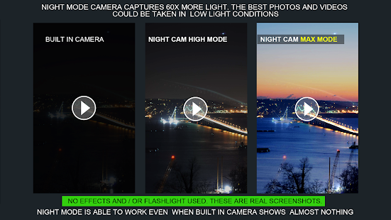 Night Photo and Video Shoot (Night Vision Camera) Screenshot
